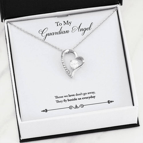 To My Guardian Angel- Forever Love Necklace w/Message Card - Sweet Dragon Mama