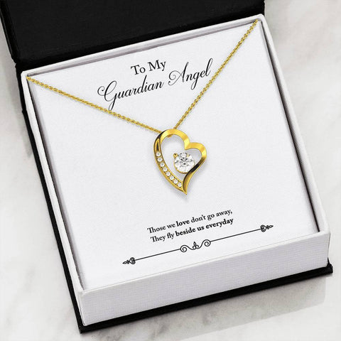 To My Guardian Angel- Forever Love Necklace w/Message Card