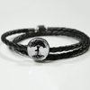 Image of YogiTreeofLife-woven leather bracelet and charm, personalized