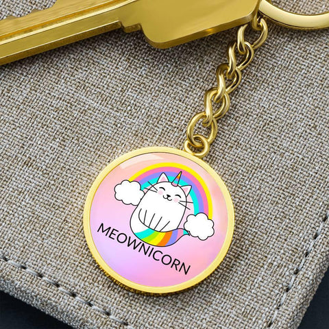 One of our favorite designs is now available as a personalized key chain.   A perfect gift for those who love meownicorn wisdom and want a reminder to keep the spirit alive in their heart.  Also a perfect gift for many cat lovers.