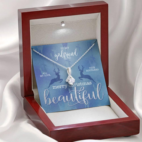 To My Girlfriend- Merry Christmas-Alluring Beauty Necklace