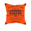 Image of Denver Football Fan Personalized Pillow Cover