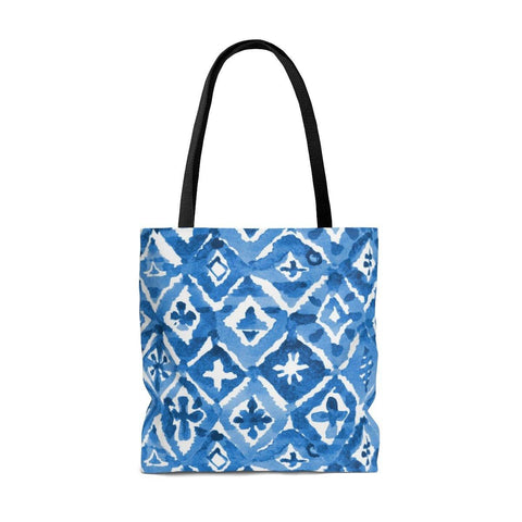 Indigo Diamond Tote Bag