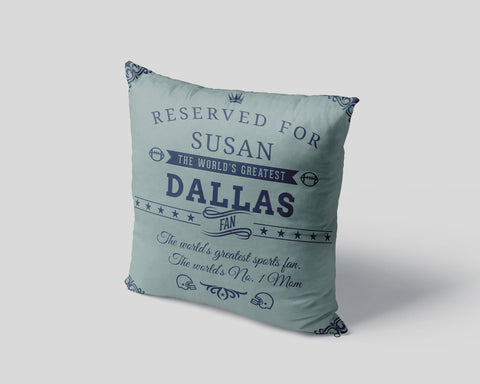 Dallas Football Fan Personalized Pillow Cover