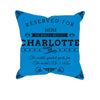 Image of Charlotte Football Fan Personalized Pillow Cover