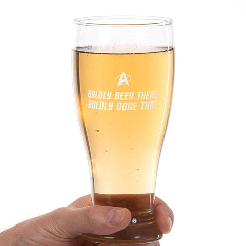 Boldly Been There Pilsner Glass