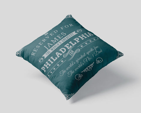 Philadelphia Football Fan Personalized Pillow Cover - Sweet Dragon Mama