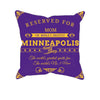 Image of Minneapolis Football Fan Personalized Pillow Cover