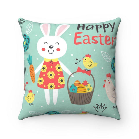 Happy Easter Polyester Square Pillow