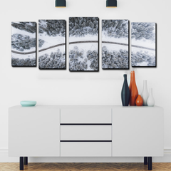 Snowy Path 5 panel canvas art