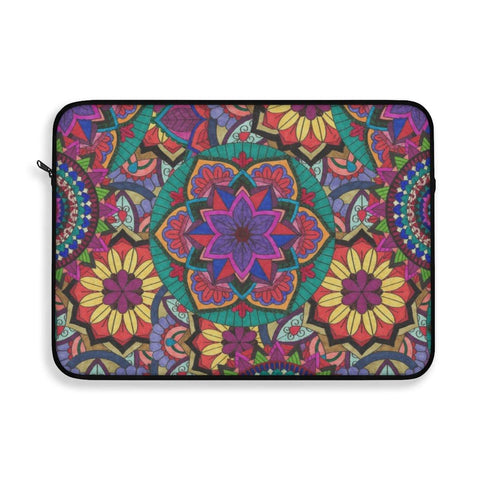 Sunflower Color Burst Laptop Sleeve - Sweet Dragon Mama