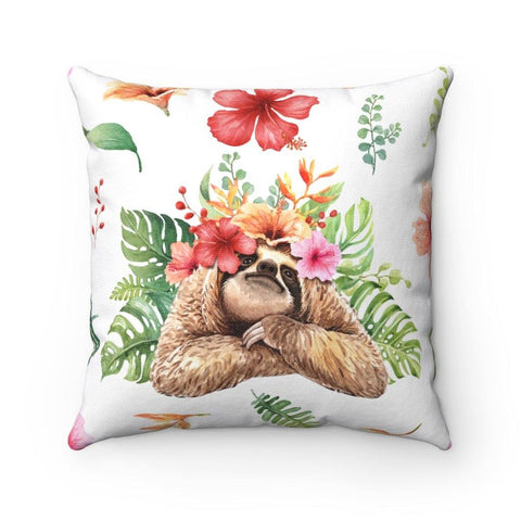 "Sloth ""I see you"" Spun Polyester Square Pillow"