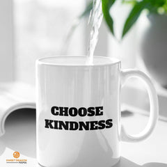 Choose Kindness- White Coffee Mug - Sweet Dragon Mama