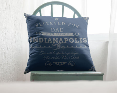 Indianapolis Football Fan Personalized Pillow Cover - Sweet Dragon Mama
