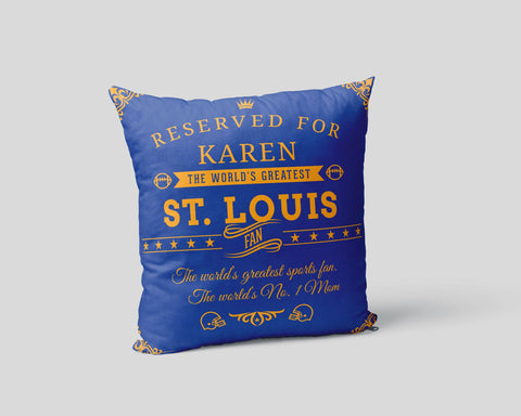 St. Louis Football Fan Personalized Pillow Cover
