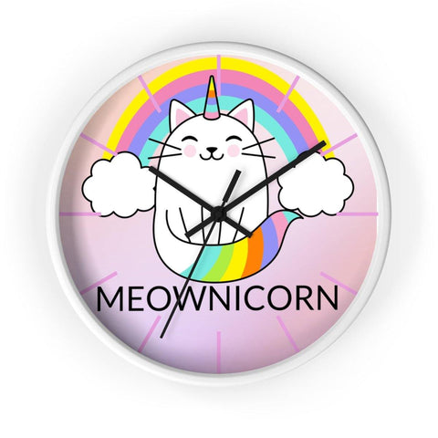 Meownicorn Wall clock