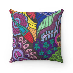 Forest Color Burst Polyester Square Pillow