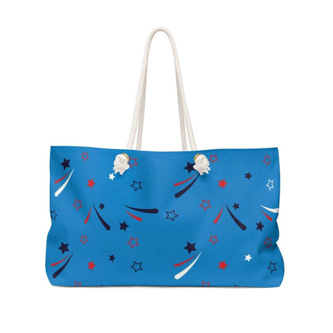 Red ,White , Blue Weekender Bag - Sweet Dragon Mama