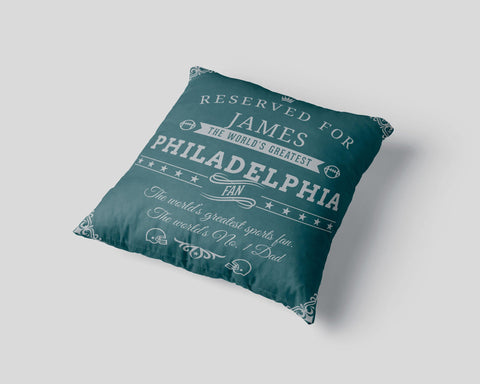 Philadelphia Football Fan Personalized Pillow Cover