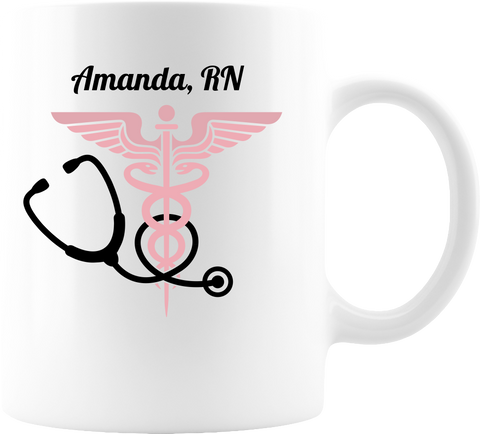 Nurse Badge White Coffee Mug 11oz