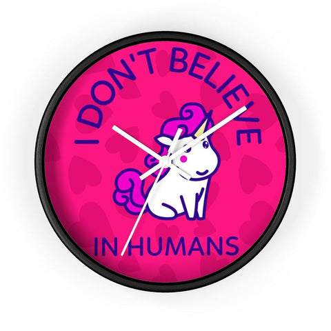 "Unicorn Wall clock- ""I Don't Believe.."""