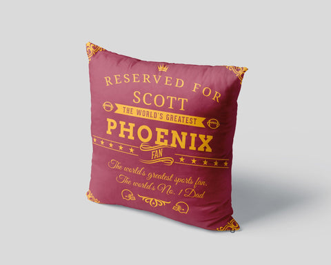 Phoenix Football Fan Personalized Pillow Cover