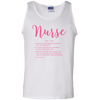 Image of Nurse Definition Unisex Tank Top Personalized