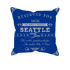 Image of Seattle Football Fan Personalized Pillow Cover - Sweet Dragon Mama