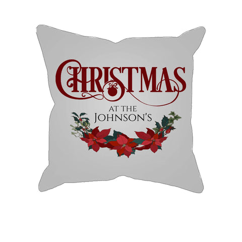 Christmas at the -  Personalized Pillow Cover