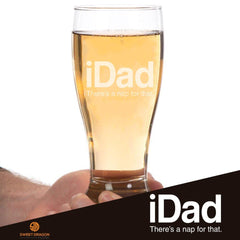 The iDad Pilsner Glass Laser Etched