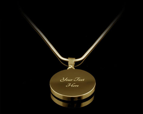 To My Wife, Silver/Gold Necklace, engraved