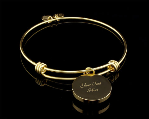 Mom Heart of Family Blue- Bangle Bracelet, Silver or Gold, engraved