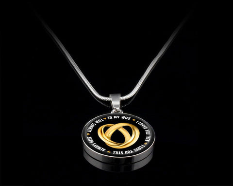 To My Wife, Silver/Gold Necklace, engraved - Sweet Dragon Mama