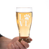 Image of Love Paw Pilsner Glass Laser Etched