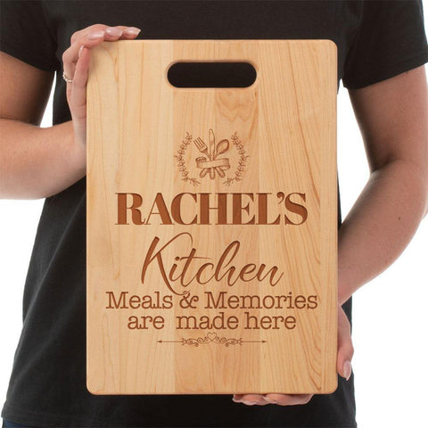 Meals and Memories Made Here- Custom Maple Cutting Board