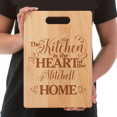 Kitchen Heart of the Home Custom Cutting Board - Maple