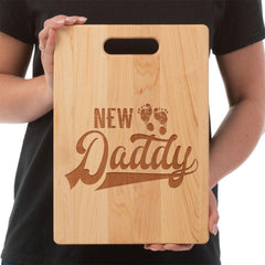 "New Daddy Cutting Board Premium Maple Cutting Board Made in USA. Not dishwasher safe. Hand washing is recommended. Medium- 8 3/4""X11 1/2"" Large- 9 ""X 12 1/2"" **Artwork is laser etched into the word with Heat and Pressure. NO Color added!"
