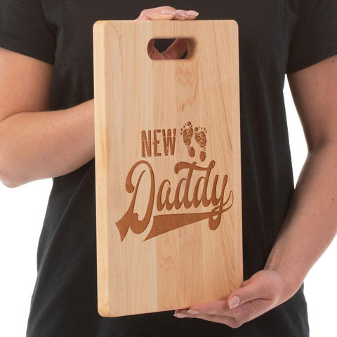 New Daddy Cutting Board - Maple