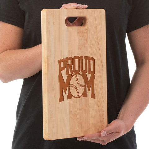Proud Baseball Mom Cutting Board