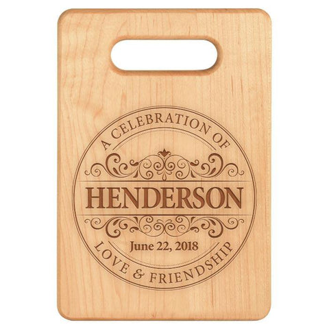 Round Vintage Anniversary Seal Cutting Board - Maple