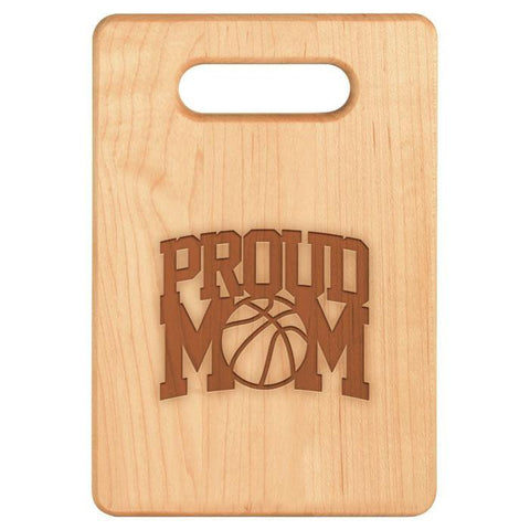 Proud Basketball Mom Cutting Board/Charcuterie platter - Sweet Dragon Mama