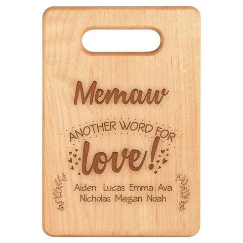 Another Word for Love- Personalized Cutting Board - Maple