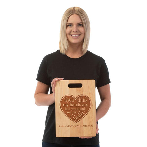 Full Heart Personalized Cutting Board