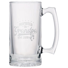 Promoted to Grandpa Beer Mug