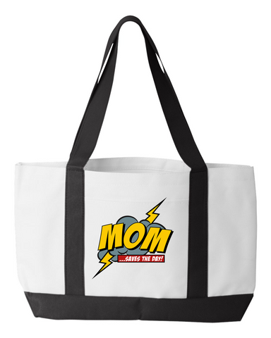 Mom Saves the Day Tote Bag
