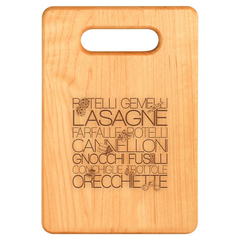 Pasta Lovers Custom Cutting Board - Maple