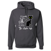 "Image of ""I Work so My Cat.."" Adult Hoodie"