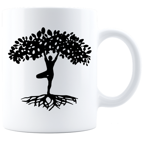 Yogi Tree of Life White 11 oz Coffee Mug