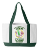 "Image of Gardening Tote ""It's time"", 600 denier polyester, 19"" by 12"" by 4"""