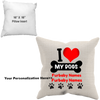 "Image of ""I Love My Dogs"" Pillow, personalized"